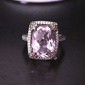 "Cushion Cut ""Rose De France"" Ring"